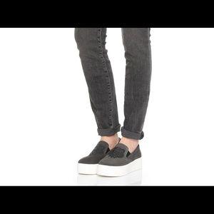 Kenzo Lion Suede Skate Platform Sneakers sz 39